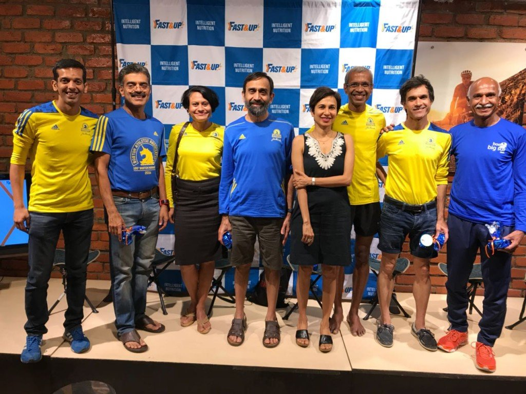 interactive session with Boston Marathoners